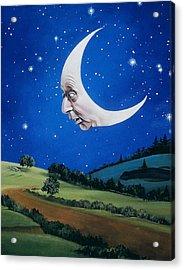 Man In The Moon Acrylic Print by Carol Heyer