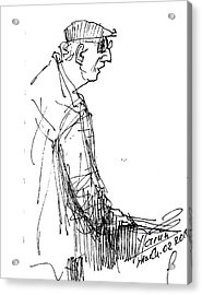 Man Standing Acrylic Print by Ylli Haruni