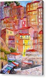 Manarola Italy Acrylic Print by Mohamed Hirji