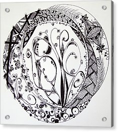 Mandala #1 Acrylic Print by Lori Thompson