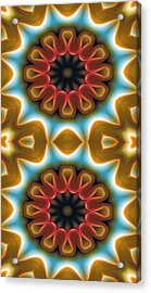 Mandala 100 For Iphone Double Acrylic Print by Terry Reynoldson