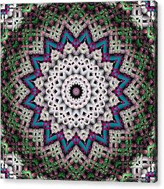 Mandala 37 Acrylic Print by Terry Reynoldson