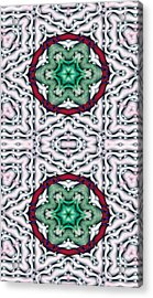 Mandala 7 For Iphone Double Acrylic Print by Terry Reynoldson