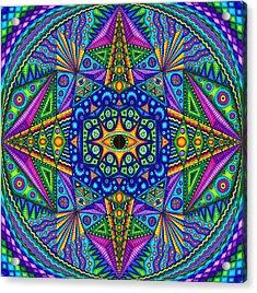 Mandala Madness Acrylic Print by Matt Molloy
