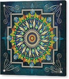 Mandala Night Wish Acrylic Print by Bedros Awak