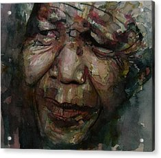 Mandela   Acrylic Print by Paul Lovering