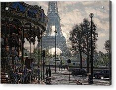Manege Parisienne Acrylic Print by Joachim G Pinkawa