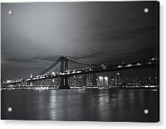 Manhattan Bridge - New York City Acrylic Print by Vivienne Gucwa