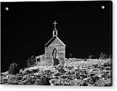 Manhattan Church Acrylic Print by Cat Connor
