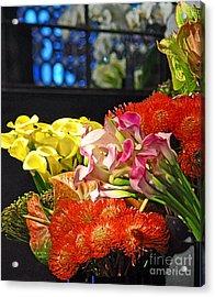 Manhattan Florist Acrylic Print by Gwyn Newcombe