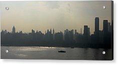 Manhattan From New Jersey Photo Acrylic Print by Mario Perez