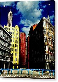 Manhattan Highlights Acrylic Print by Benjamin Yeager