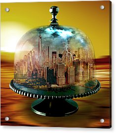 Manhattan Under The Dome Acrylic Print by Marian Voicu