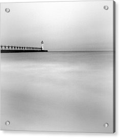 Manistee Pierhead Light Acrylic Print by Jeff Burton