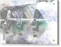 Mannequin With Glasses In Digital Art Acrylic Print by Toppart Sweden