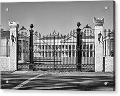 Manresa House Of Retreats Bw Acrylic Print by Steve Harrington