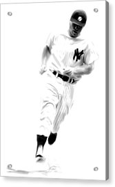 Mantles Gate  Mickey Mantle Acrylic Print by Iconic Images Art Gallery David Pucciarelli