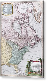 Map Of The Usa And The British Dominions In North America Acrylic Print by English School