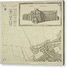 Map Of Westminster In The City Of London Acrylic Print by British Library