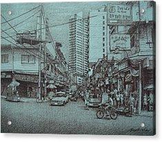 Mapua Street Acrylic Print by Hezekiah Lopez