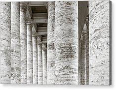 Marble Roman Columns Acrylic Print by Susan  Schmitz