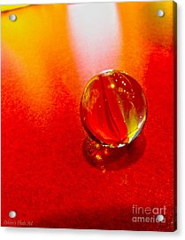 Marble Shine Acrylic Print by Debbie Portwood