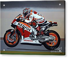 Marc Marquez Acrylic Print by Paul Meijering