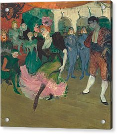 Marcelle Lender Dancing The Bolero In Chilperic Acrylic Print by Toulouse-Lautrec
