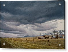 March Sky-montana Acrylic Print by Paul Krapf