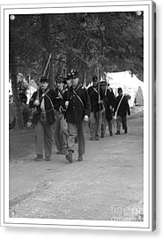 Marching Off To Battle Acrylic Print by Sara  Raber