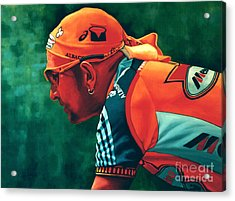 Marco Pantani The Pirate Acrylic Print by Paul Meijering
