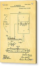 Marconi Radio Patent Art 1897 Acrylic Print by Ian Monk