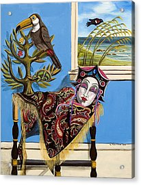 Mardi Gras In The Living Room Acrylic Print by Susan Culver