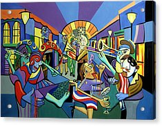 Mardi Gras Lets Get The Party Started Acrylic Print by Anthony Falbo
