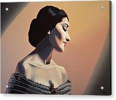 Maria Callas Painting Acrylic Print by Paul Meijering