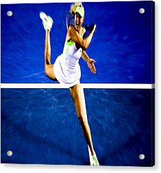 Maria Sharapova In A Zone Acrylic Print by Brian Reaves