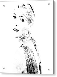 Maria Sharapova Paint Splatter 1a Acrylic Print by Brian Reaves