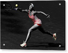Maria Sharapova Reaching Out Acrylic Print by Brian Reaves