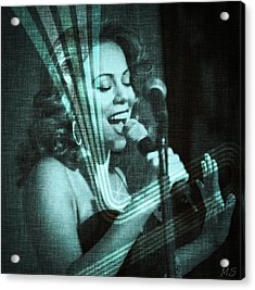 Mariah Carey - Beautiful Alchemy Acrylic Print by Absinthe Art By Michelle LeAnn Scott