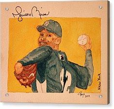 Mariano Rivera  Acrylic Print by Rand Swift