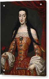 Marie-louise Of Orleans. Queen Of Spain Acrylic Print by Jose Garcia Hidalgo