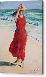 Mariela On Bonita Beach Acrylic Print by Herschel Pollard