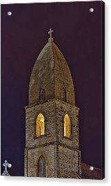Marienkirche At Night Acrylic Print by Gary Holmes