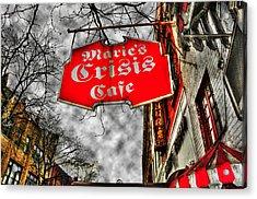 Marie's Crisis Cafe Acrylic Print by Randy Aveille
