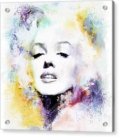 Marilyn American Beauty Acrylic Print by Shanina Conway