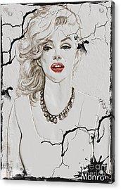 Marilyn Monroe Broken Wall Acrylic Print by Creativehelper
