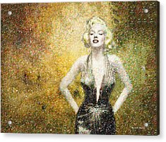 Marilyn Monroe In Points Acrylic Print by Angela A Stanton