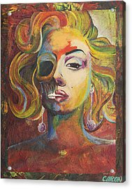 Marilyn Monroe Acrylic Print by Mike Caron