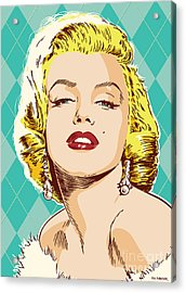 Marilyn Monroe Pop Art Acrylic Print by Jim Zahniser