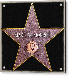 Marilyn Monroe's Star Painting  Acrylic Print by Bob and Nadine Johnston